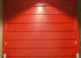 Красные огнестойкие секционные ворота