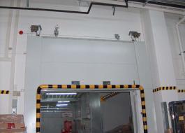 Противопожарные металлические подъемные ворота