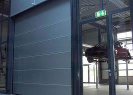 Противопожарные гаражные секционные ворота