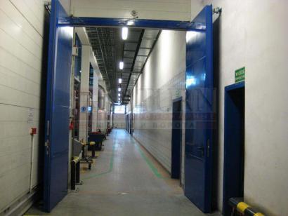 Производственные огнеупорные металлические автоматические ворота распашные